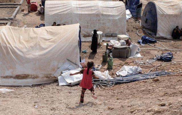 Campo de desplazados en Debaga (Irak)