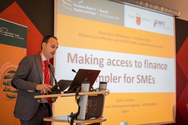 El director del Info, Javier Celdrán, durante su intervención en 'Open Days'