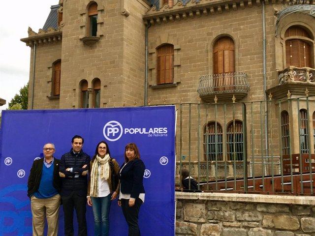 Presentación de la Junta del PPN en Burlada y Villava