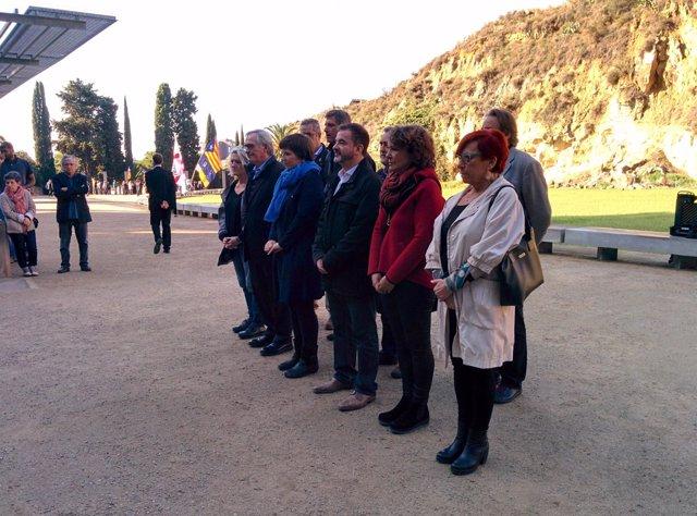 Homenaje de los concejales del Ayuntamiento de Barcelona a Lluís Companys
