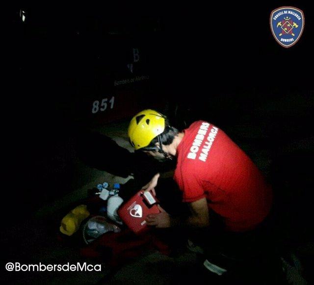 Rescate de montaña de los Bomberos de Mallorca