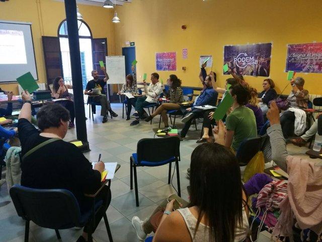 Jornada de debate de Podem de Valent para elaborar su documento organizativo