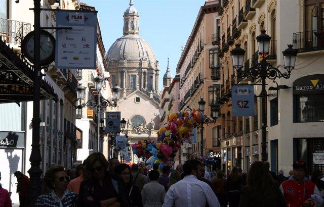 Fiestas del Pilar en Zaragoza.
