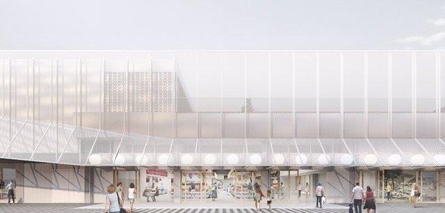 Imagen de la remodelación del mercado de la Vall d'Hebron, en Barcelona.