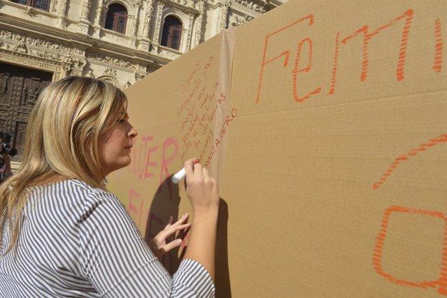 Fotografías. Mural Otoño Femenino. Plaza De San Francisco