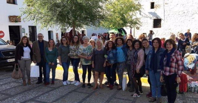 Encuentro del PSOE con mujeres en Castaño del Robledo (Huelva)