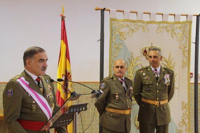El comandante general de Melilla en su discurso en el día de Santa Teresa