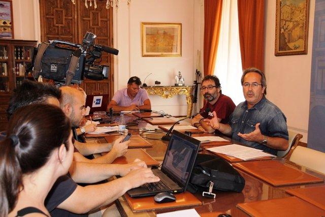 Francisco Guarido en rueda de prensa