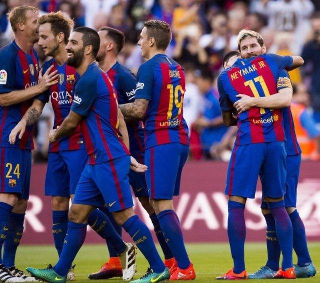 Barcelona Leo Messi Arda Turan Ivan Rakitic Neymar