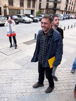Monedero a su llegada a Salamanca
