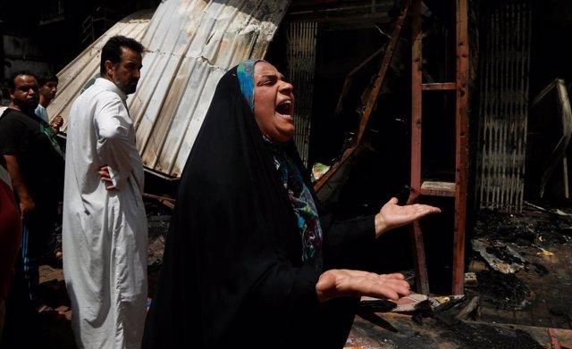 Atentado con coche bomba en Bagdad, Irak