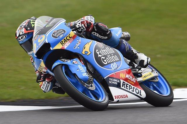 Jorge Navarro, el mejor en los libres de Moto3 del GP de Gran Bretaña