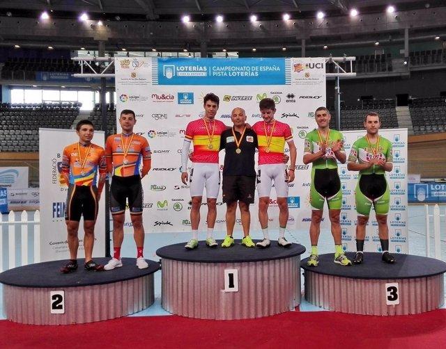 Albert Torres en el Campeonato de España de ciclismo en pista