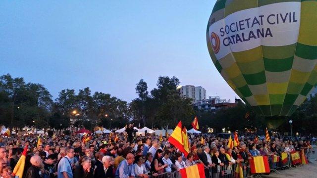 Acto de SCC por el 12-O en Barcelona