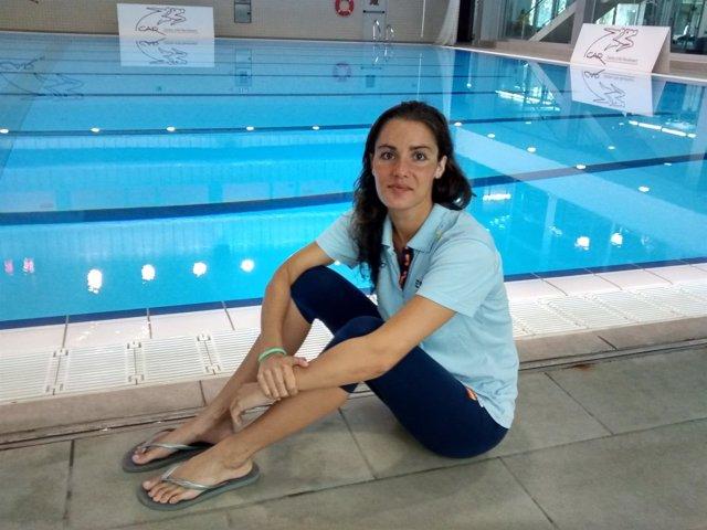 La nadadora de sincronizada Alba Cabello