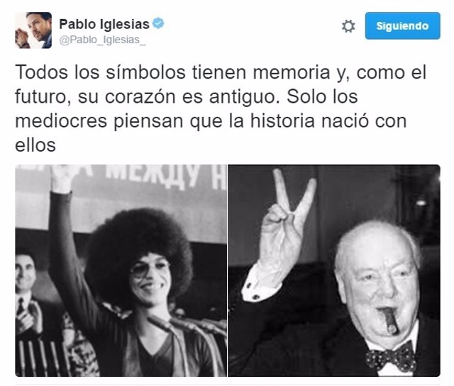 Tuit de Pablo Iglesias
