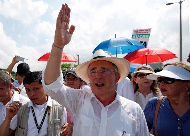 El expresidente colombiano Álvaro Uribe