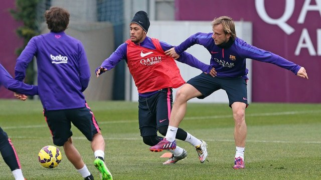 Neymar Jr. e Ivan Rakitic