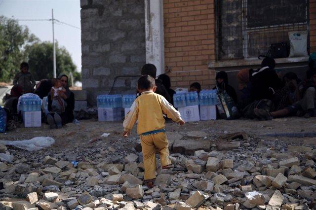 Familias desplazadas en Irak
