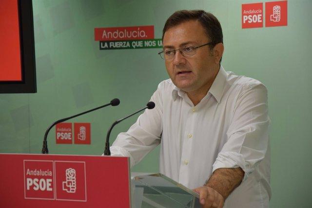 Miguel Ángel Heredia, PSOE, en rueda de prensa