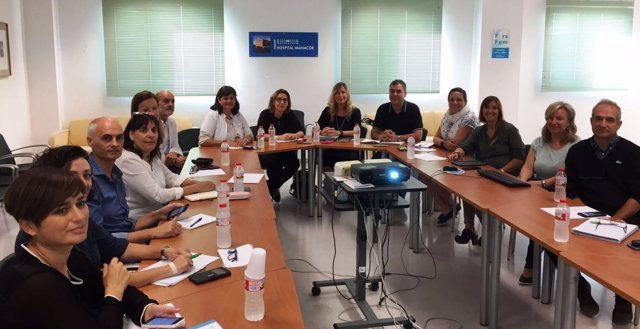 Reunión en el Hospital de Manacor