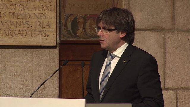 """Puigdemont garantiza """"rigor, certeza y seguridad"""" en el camino hacia la independ"""