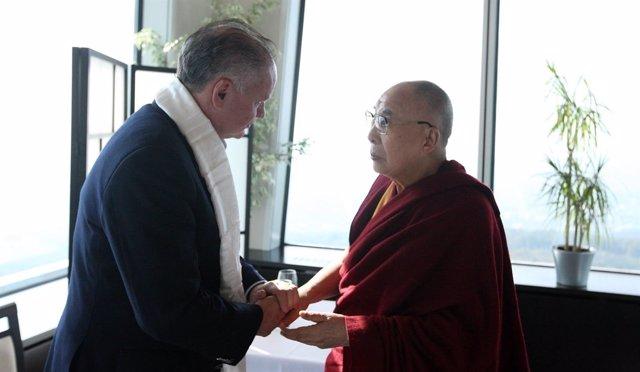 Reunión del Dalai Lama con el presidente de Eslovaquia