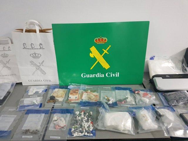 Droga intervenida en Ourense en un operativo con 9 detenidos