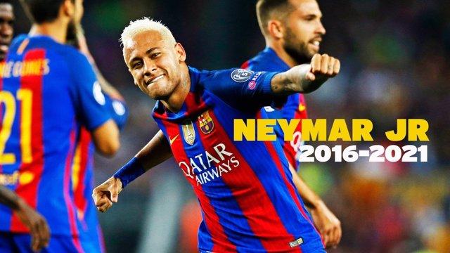 Firma de la renovación de Neymar