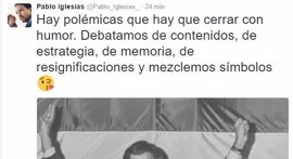 Pablo Iglesias usa a Felipe González para intentar cerrar la polémica de los símbolos en Podemos