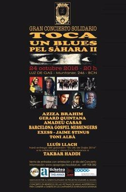 Cartel del concierto 'Toca un blues pel Sàhara II'