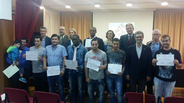 Participantes en un taller de formación de Fundación Endesa y Càritas Tarragona