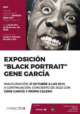 """Invitación Inauguración Exposición """"Black Portrait"""""""