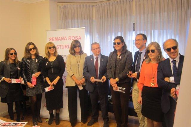 Presentación de la 'Semana Rosa' de la AECC en Asturias