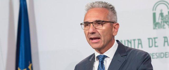 El portavoz del Gobierno andaluz, Miguel Angel Vázquez