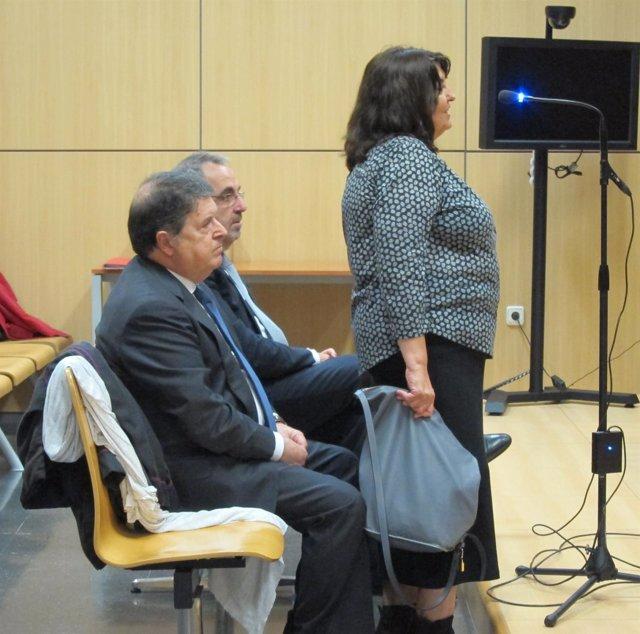 Olivas, su mujer y Vicente Cotino (izq)