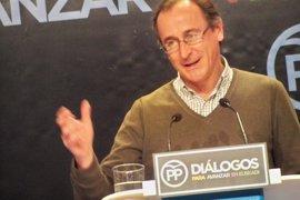 """Alonso pide al PNV que reflexione porque la decisión de excluir al PP de la Mesa del Parlamento tendrá """"consecuencias"""""""
