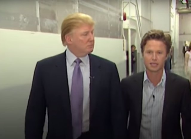 Billy Bush junto a Donald Trump en una grabación de 2005