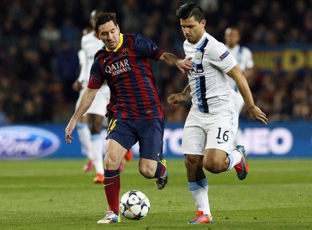 Leo Messi y Kun Agüero