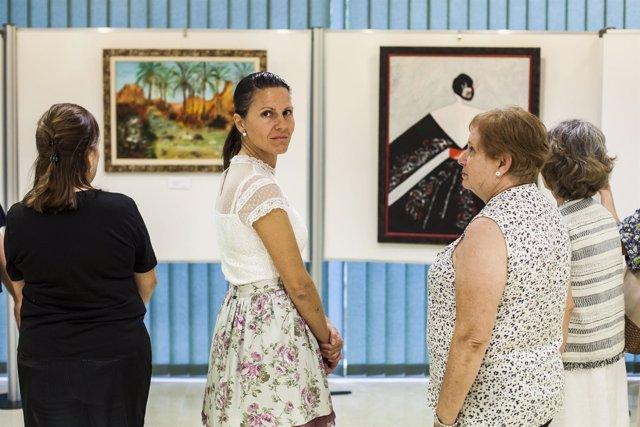 La Asociación 'Amusas' expone este mes de octubre en el Espacio de Mujeres.