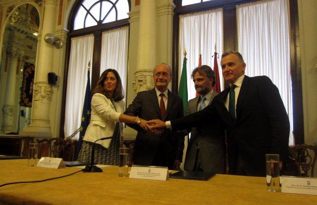 Marina Bravo, Francisco de la Torre, José Fiscal y Paulino Plata