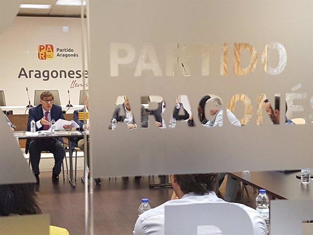 La Ejecutiva del PAR se ha reunido este martes en Zaragoza.