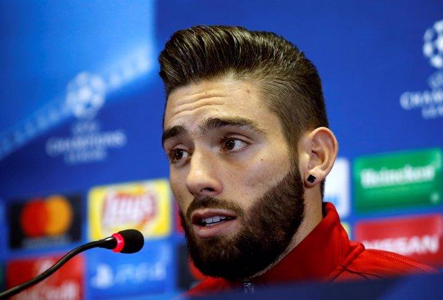 El jugador del Atlético de Madrid Yannick Ferreira Carrasco