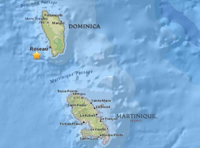 Terremoto en Dominica