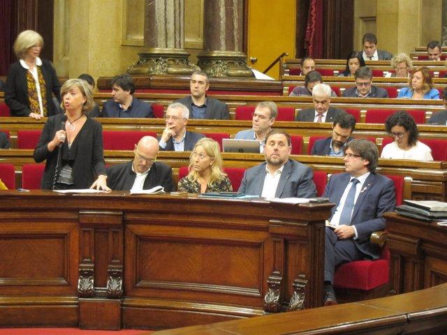 Diputados de JxSí en el Parlament