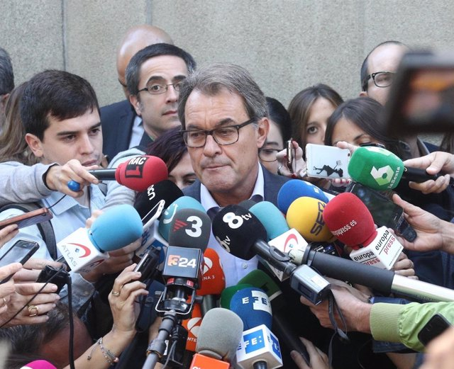 Artur Mas, haciendo declaraciones