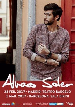Álvaro Soler actuará en Madrid y Barcelona en febrero y marzo