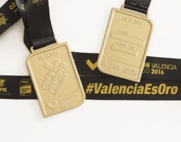 The Medal Company fabrica las medallas del Medio Maratón de Valencia