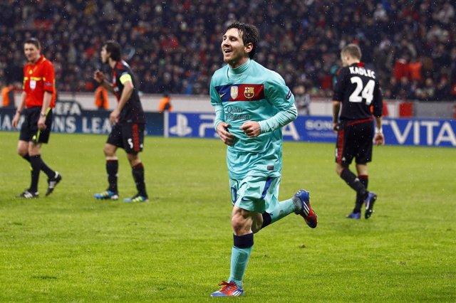 Leo Messi, Ante El Leverkusen