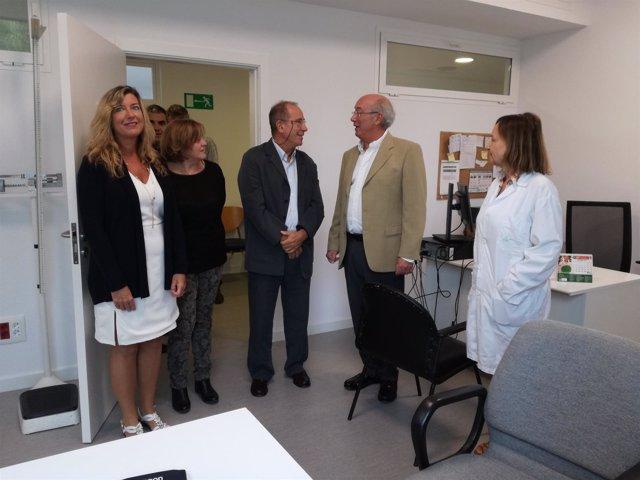 Gómez en la Unidad de salud de Puerto de Sóller